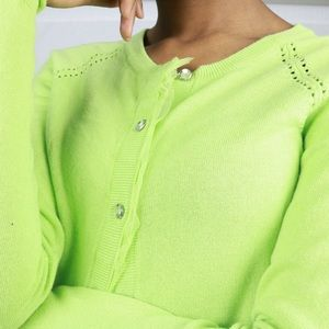 Cute lime green cardigan !